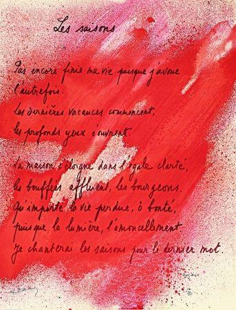 Litografía Bazaine - Placard Frenaud