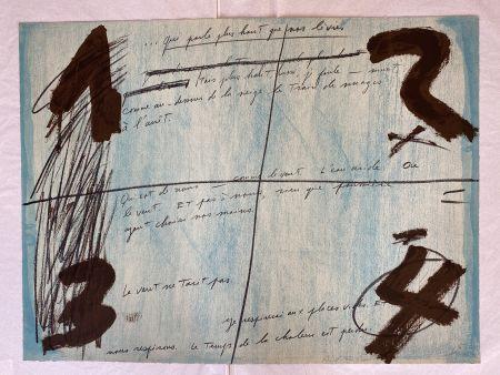 Litografía Tàpies - Placards