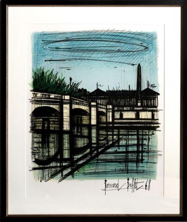 Litografía Buffet - Place de la Concorde