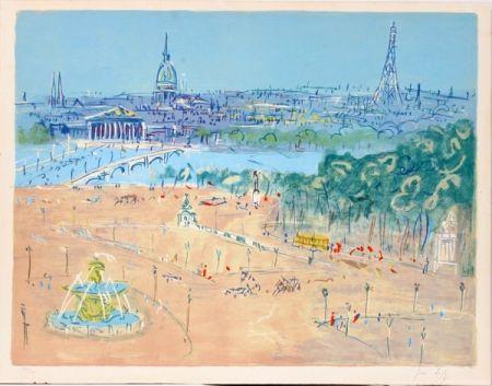 Litografía Dufy - Place de la Concorde
