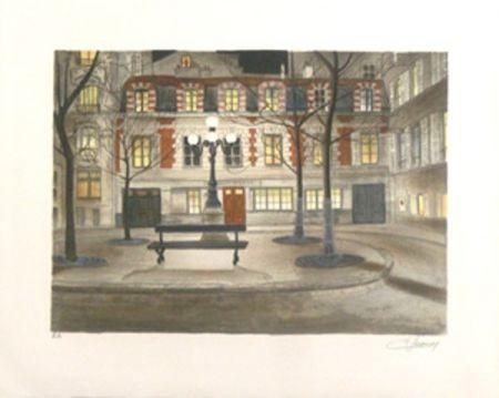 Litografía Lecoindre - Place furstenberg