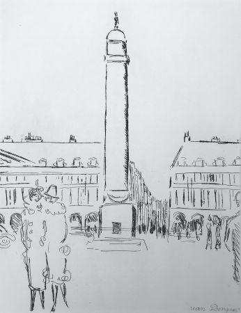 Grabado Van Dongen - Place Vendome