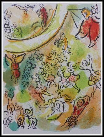 Litografía Chagall - PLAFOND DE L'OPERA GARNIER