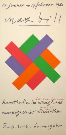 Serigrafía Bill - Plakat Kunsthalle Winterthur