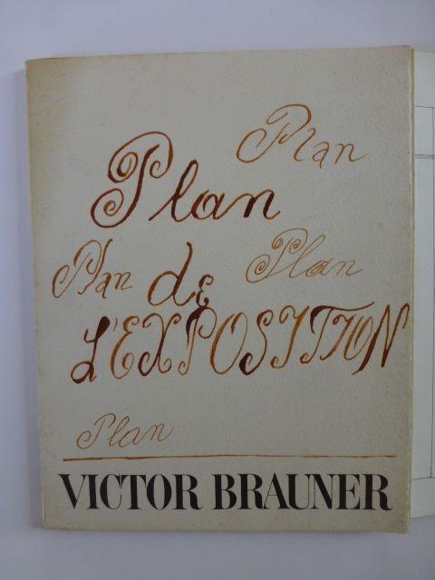 Libro Ilustrado Brauner - Plan de l'exposition galerie Iolas 1966