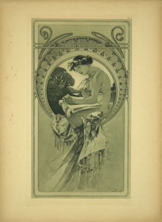 Litografía Mucha - Planche  7   Documents décoratifs