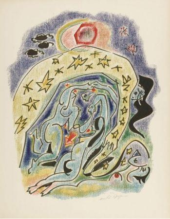 Litografía Masson - Planche d'illustration des 23 sonnets de Louise Labbé