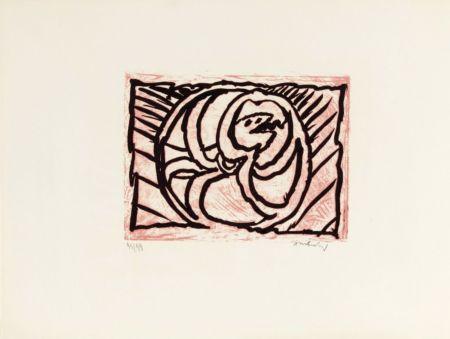 Litografía Alechinsky - Planche V de la suite lino-litho