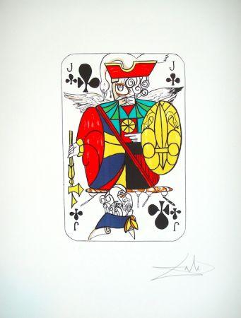 Litografía Dali - Playing card Valet de Trefle (25)