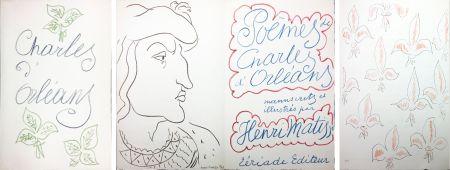 Libro Ilustrado Matisse - POÈMES DE CHARLES D'ORLÉANS 54 lithographies par Henri Matisse (1950).