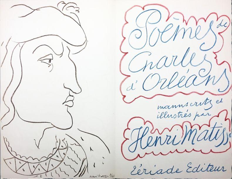 Libro Ilustrado Matisse - POÈMES DE CHARLES D'ORLÉANS, manuscrits et illustrés par Henri Matisse (Tériade 1950)