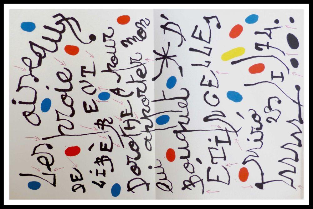 Litografía Miró - Poème pour Dorothea Tanning