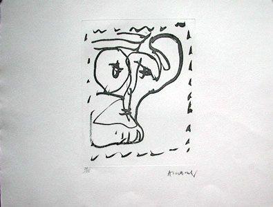 Aguafuerte Alechinsky - Poèmes à voir
