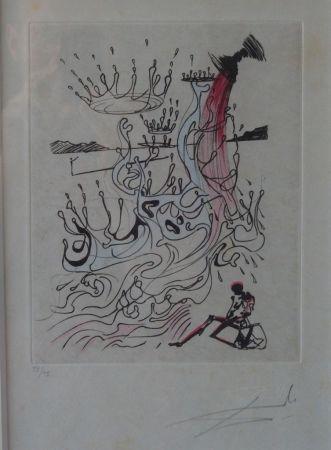 Aguafuerte Dali - Poèmes de Mao Tse-Toung : Fleuve d'abondance