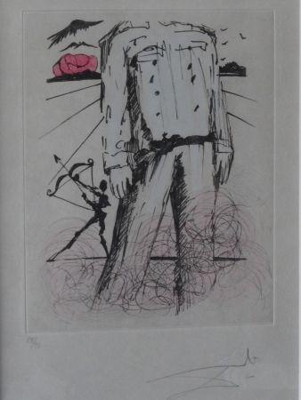 Aguafuerte Dali - Poèmes de Mao Tse-Toung : Le buste de Mao