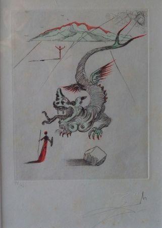 Aguafuerte Dali - Poèmes de Mao Tse-Toung : Le Dragon