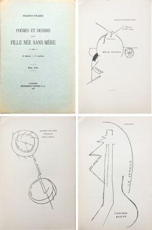 Libro Ilustrado Picabia - Poèmes et dessins de la fille née sans mère. 18 dessins - 51 poèmes (1918).