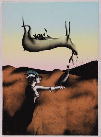 Litografía Wunderlich - Poésie de la chasse italienne