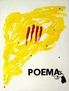 Litografía Tàpies - Poema