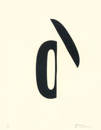Litografía Brossa - Poema visual 19