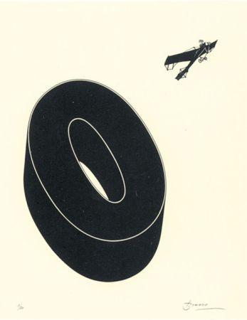 Litografía Brossa - Poema visual 20