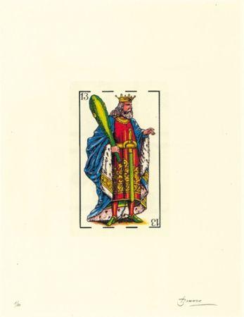 Litografía Brossa - Poema visual 32