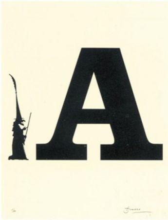 Litografía Brossa - Poema visual 5