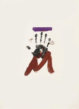 Litografía Tàpies - Poems-2