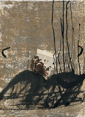 Litografía Tàpies - Poems-3
