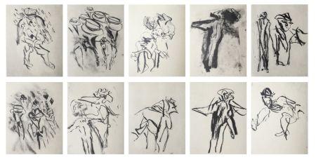 Litografía De Kooning - Poems by Frank O'Hara