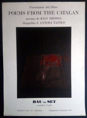 Cartel Tàpies - Poems from the Catalan - Tàpies / Brossa 1973