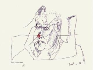 Serigrafía Dietman - Poils sur le nez