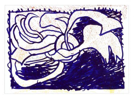 Litografía Alechinsky - Pointes et Feutres (1)