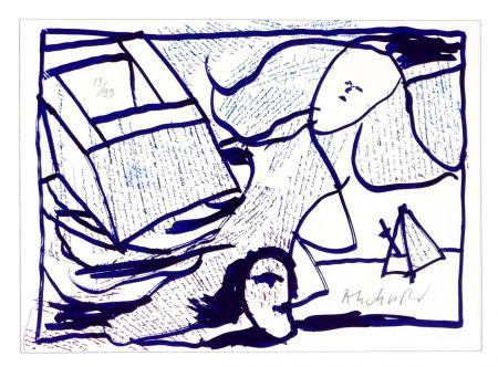 Litografía Alechinsky - Pointes et Feutres (8)
