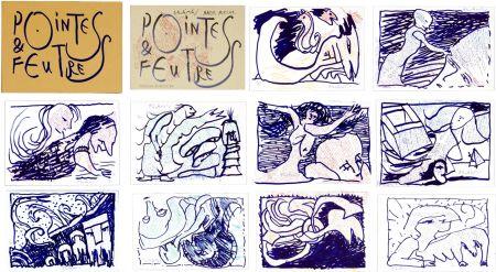 Litografía Alechinsky - Pointes & Feutres