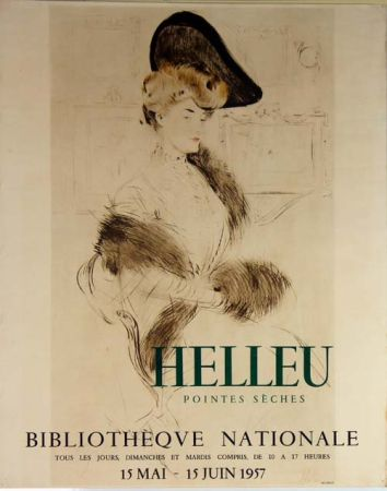 Litografía Helleu - Pointes  Seches  Bibliotheque Nationale