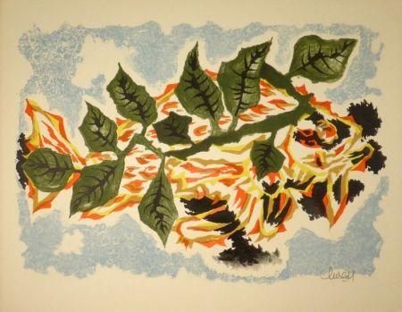 Litografía Lurcat - Poisson feuillage
