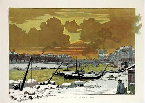 Litografía Grasset - Pont de Sully