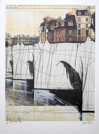 Litografía Christo - Pont Neuf Wrapped