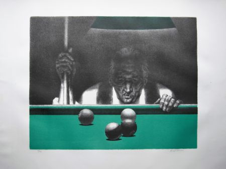 Litografía Hirsch - Pool player