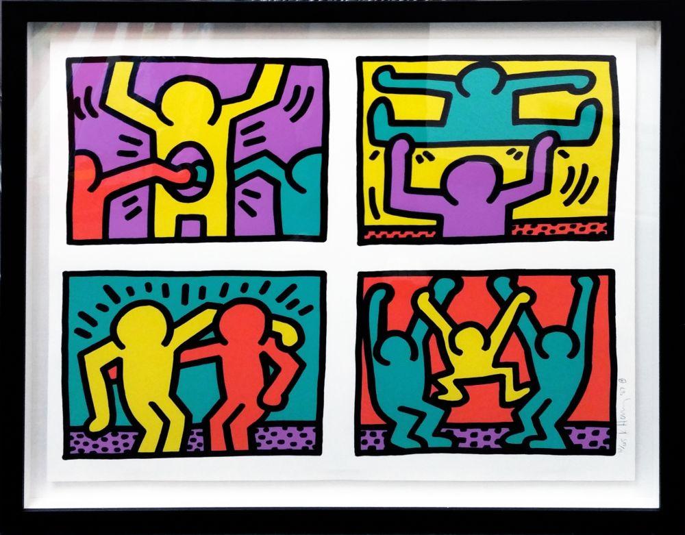 Serigrafía Haring - POP SHOP QUAD I