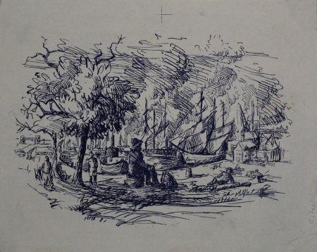Litografía Kitzel - Port