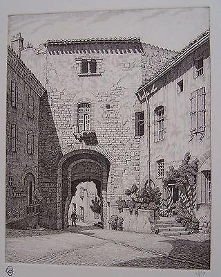 Grabado Strang - Porte des Ormeaux, Cordes