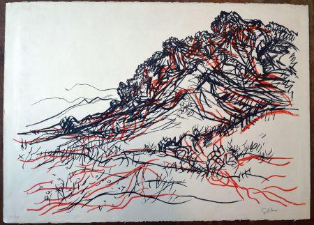 Litografía Guttuso - Portella delle Ginestre