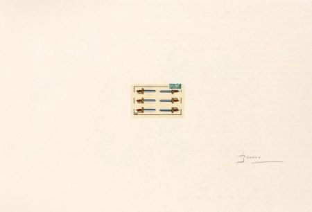 Litografía Brossa - Portfolio 12th Anniversary of Galeria Joan Prats