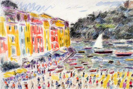 Litografía Cascella - Portofino