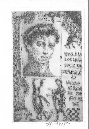Aguafuerte Y Aguatinta Garouste - Portrait