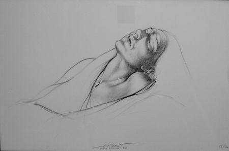 Litografía Pignon-Ernest - Portrait