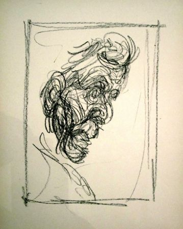Litografía Giacometti - Portrait