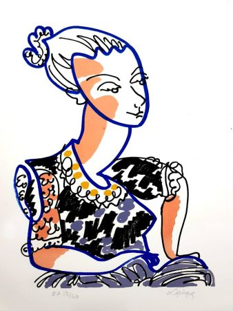 Litografía Lapicque - Portrait